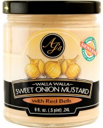 AJ's Walla Walla Sweet Onion Mustard With Red Bell Peppers