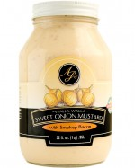 AJ's Walla Walla Sweet Onion Mustard With Smokey Bacon - 32 oz