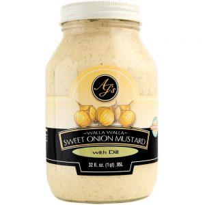 AJ's Walla Walla Sweet Onion Mustard With Dill - 32 oz