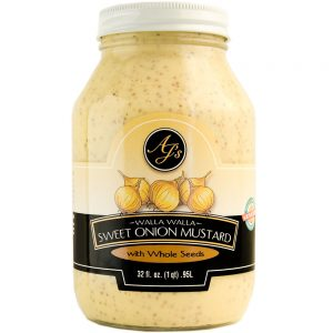 AJ's Walla Walla Sweet Onion Mustard With Whole Mustard Seed - 32 oz